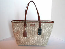 Lauren Ralph Lauren Delwood Tote Bag in Stone Color. MSRP $198.