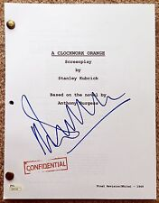 "MALCOLM McDOWELL Signed Autographed ""A Clockwork Orange"" Script, Full Script JSA"