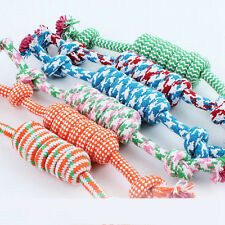 NEW Puppy Dog Pet Chew Toy Cotton Braided Bone Tug Play Game Rope Knot Toy