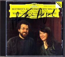 Marhta Argerich firmato Beethoven Piano Concerto No. 1 & 2 Giuseppe Sinopoli CD