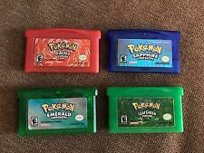 Pokemon Emerald + Sapphire + FireRed + LeafGreen (GBA LOT) AUTHENTIC games