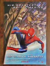 "2014 The Amazing ** SPIDERMAN 2 ** IMAX ** 2 Sided Poster 11-3/8"" x 17"" Rare"