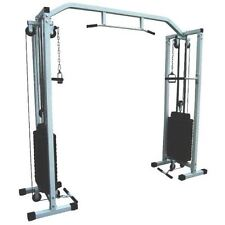 POWER CABLE CROSSOVER EXERCISE MACHINE CAGE TRAINING GYM 180KG WEIGHTS INCLUDED