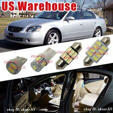 12-pc Luxury White LED Lights Interior Package Kit Fit for 02-06 Nissan Altima
