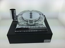 El Casco Chrome and Glass Ashtray M-760CT