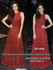 New Arrival Red Hot Nylon Net Bollywood Style Designer Party Wear Gown Dress