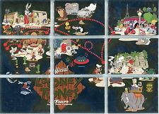 Looney Tunes BiA Complete Looney Tunes Tours Chase Card Set LTT1-LTT9