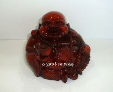 Feng Shui - Good Fortune Laughing Buddha with Ingot (Redstone)