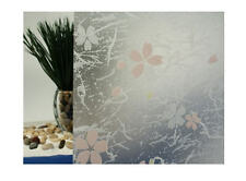"""Frosted Print Flowers Static Cling Window Film, 36"""" Wide x 50 ft"""
