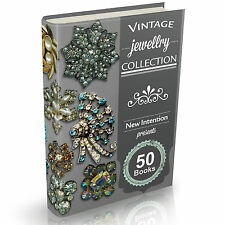 Jewellery Books - 50 Vintage Jewelry Books on DVD Hallmarks Gold Silver Diamond