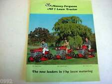 Massey Ferguson MF 7 Lawn Tractor Color Sales Brochure from 1968              ex