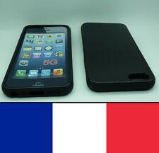 Housse silicone Noir pour iphone 5, 5S,SE etui protection, coque silicon case