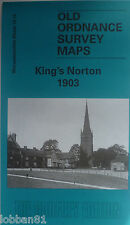 Old Ordnance Survey Map Kings Norton near Northfield Worcestershire 1903 S10.12