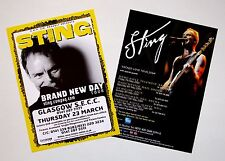 Sting - set of 2 UK A5 tour flyers...ideal for framing!