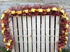 CUSTOM LENGTHS DECO MESH GARLAND, MANTLE, RAILING,FALL, SCARECROW, PUMPKIN DOOR