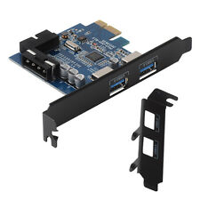 ORICO 2*USB 3.0+20pin+4pin 4Ports PCI-E to USB3.0 Express Card Hub Adapter