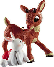 Carlton Ornament 2012 Rudolph the Red-Nosed Reindeer With Bunny - #CXOR075B