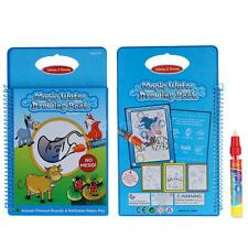 Magic Water Drawing Book Coloring Book Doodle w/ Magic Pen Animals Painting K0Y2