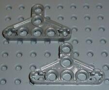 LEGO - TECHNIC - LIFTARM, Thin Triangle, PEARL LIGHT GREY x 2 (2905) TK797