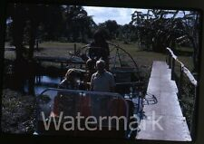 1973 Kodachrome Photo slide   Florida people in airboat #2