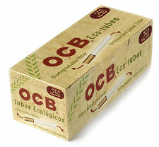 1 box - OCB Eco Tubes unbleached paper + Biodegradable Filter - total 250 tubes