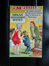"BAMFORTH COMIC SERIES NO 1025 POSTCARD ""Saucy Music Centre Organ Replacement"""