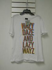 ASOS New Mens Hazy Daze And Lazy Wayz White Large Crew Neck T Shirt NWT