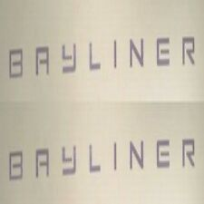 BAYLINER 51 1/2 x 2 INCH BOAT DECALS (Pair) decal