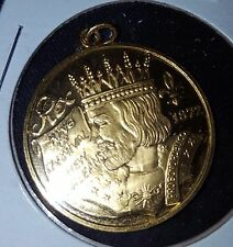 Rex 1978, .925 Sterling Silver New Orleans Mardi Gras Doubloon Charm S4051.