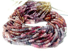 "NATURAL MULTI SPINEL 3-4MM FACETED RONDELLE LOOSE BEADS 13"" STRAND 1 LINE"