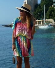 MISSONI MARE MULTI-COLOUR SHORT KAFTAN DRESS IT 40 UK 8