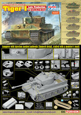 Dragon - 1/35 Tiger I Late Production w/ Zimmerit # 6383