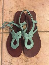 womens kelly and katie sandals in size 9 aqua blue EUC
