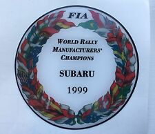 SUBARU 1999 WORLD RALLY MANUFACTURERS CHAMPION 555 V Limited DOMED PLASTIC BADGE