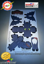 ¤ How to Train Your Dragon ¤ School of Dragons Toothless Paper Figure ¤ RARE ¤
