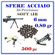 500 PALLINI SFERE ACCIAIO SOFTAIR BB 6MM GR.O89