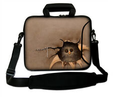 "15""-15.6"" LAPTOP SLEEVE HANDLE STRAP CASE BAG FOR ALL LAPTOPS ""FUNNY THING"""