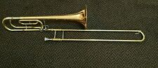 YAMAHA YSL-356G TRIGGER TROMBONE. MADE IN JAPAN. NO CASE. IN GOOD CONDITION.