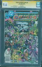 Crisis on Infinite Earths 9 CGC SS 9.6 George Perez Sign White 12/85