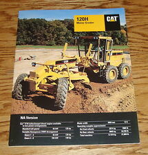 Original 1998 Caterpillar 120H Motor Grader Sales Brochure 98 Cat