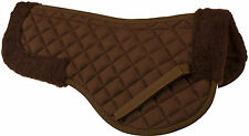 USED ENGLISH SADDLE FLEECE HALF PAD PADDED WITHER RELIEF HORSE TACK BROWN