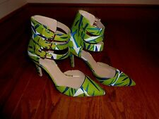 J CREW HEELS PUMPS FLORAL WOMEN HEEL SHOES SIZE-7