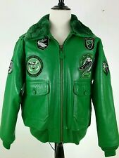 Schott G1TG Wings of Gold Naval Aviator Leather G1 Bomber Jacket Men's XL Green