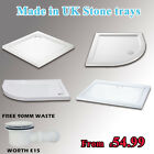stone trays for shower enclosure glass door riser kit free waste trap