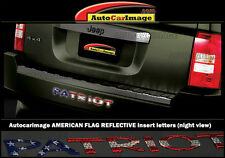 BUMPER LETTER INSERTS FOR JEEP PATRIOT 2007-2016 REFLECTIVE AMERICAN FLAG