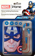 Marvel iHome Captain America Blue Licensed Earbuds with Carry Pouch