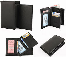Geldbörse Portemonnaie Brieftasche Herausnehmbare 2 in 1 Dokumentenhülle Leder