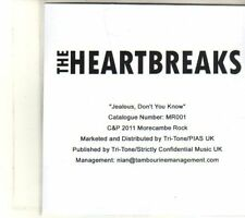 (DT475) The Heartbreaks, Jealous, Don't You Know - 2011 DJ CD