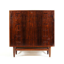 Retro Vintage Danish Design Rosewood Tall Boy Dresser Chest of Drawers 60s 70s