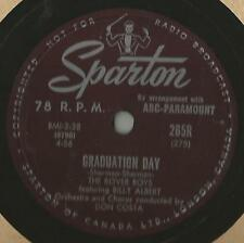 Doo Wop 78 Rpm Record The Rover Boys Graduation Day / I Hear Music